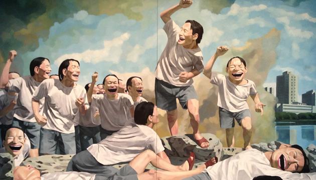 Yue Minjun, pinturas 1