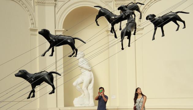 Encontraron cielo, hall central Museo de Bellas Artes 2
