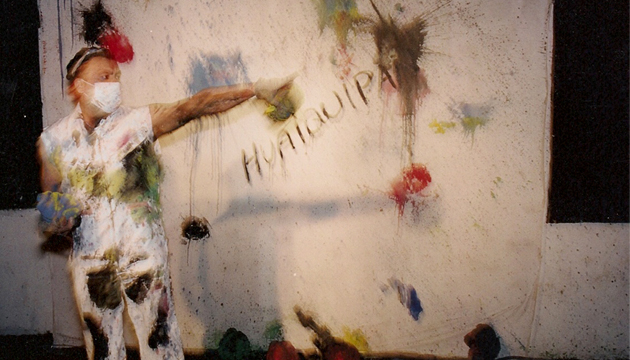 Festival de Canes, performance, Antonio Becerro y Francisco Huaiquipán, Perrera Arte 2003