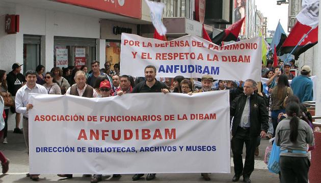 Anfudibam se manifiesta en las calles de Concepción