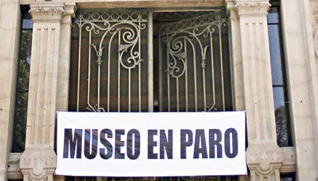 Museo en paro, 25 días a puertas cerradas