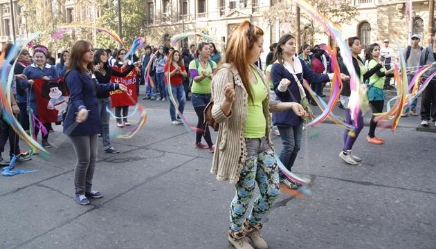 Manifestación callejera, Santiago de Chile, toma 1