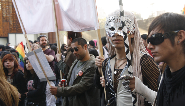 Manifestación callejera, Santiago de Chile, toma 3