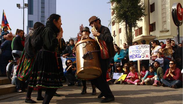 Manifestación callejera, Santiago de Chile, toma 4