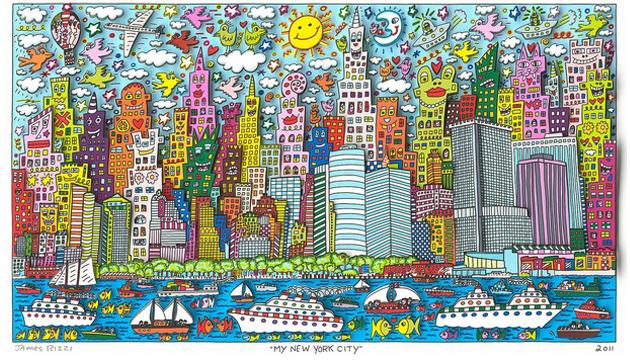 Mi ciudad de Nueva York, James Rizzi, 2011