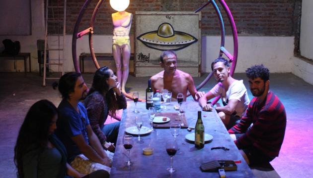 """Primera cena del equipo de """"Mapocho/Espectros"""" y """"Devastación"""""""