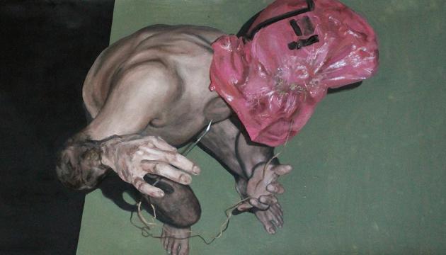 Pintura VI (acercamiento invertido), Héctor León, 2014