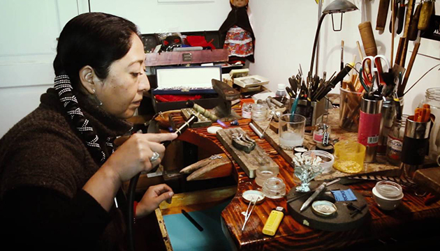 El taller en que Celeste realiza sus trabajos de joyería