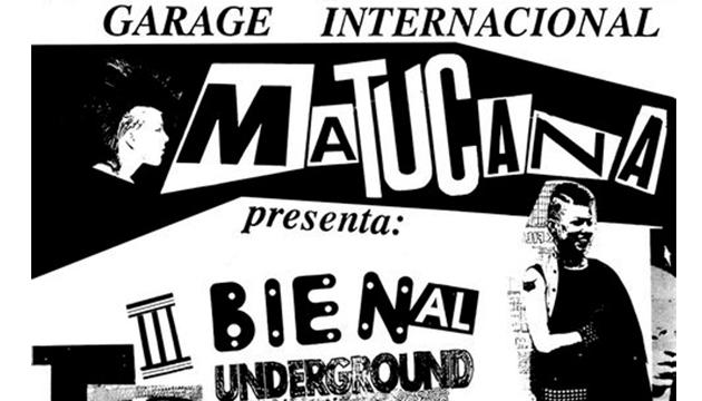 Un afiche característico de la estética Garage de Matucana 19
