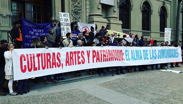 La manifestación partió en el frontis del Museo de Bellas Artes