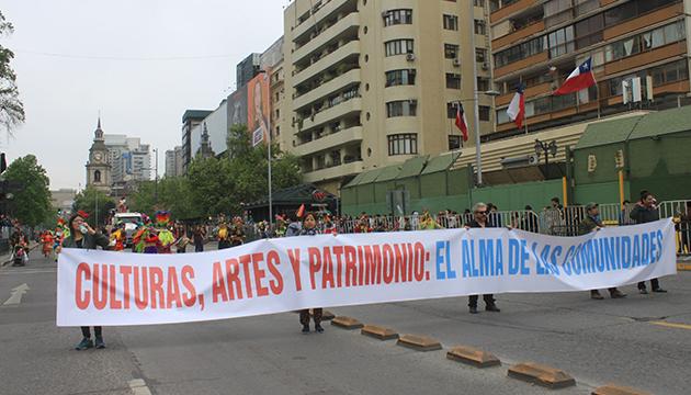 La marcha concluyó y fue parte de la Fiesta de la Primavera de la Fech