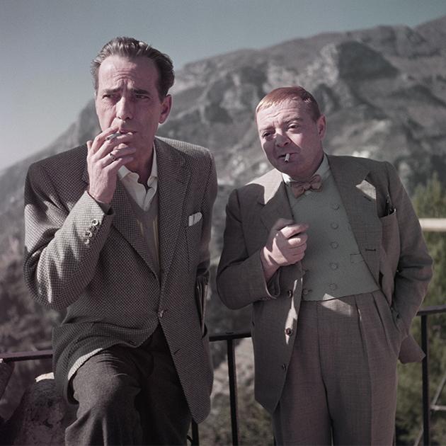 Humphrey Bogart y Peter Lorre / Robert Capa / 1953