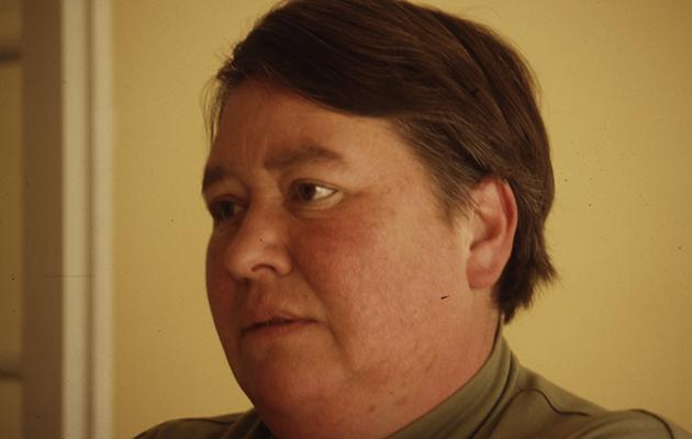 Ingrid Olderock en mayo de 1996.  Diario La Nación. Gentileza de Archivo Cenfoto Universidad Diego Portales