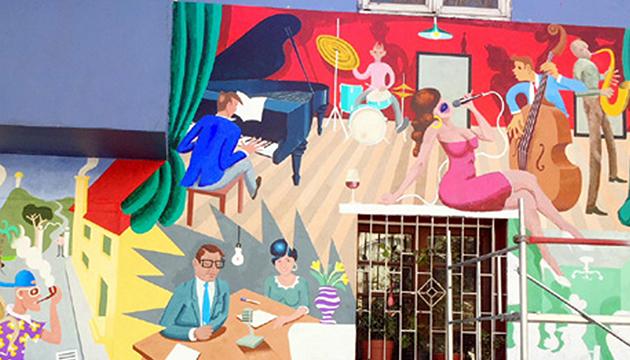 Dos meses trabajó Andrés Titi Gana en su mural