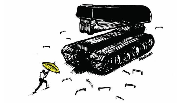 La masacre de Tiananmén marca la obra del dibujante