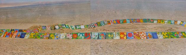 250 cuadros componen el proyecto Flores del desierto