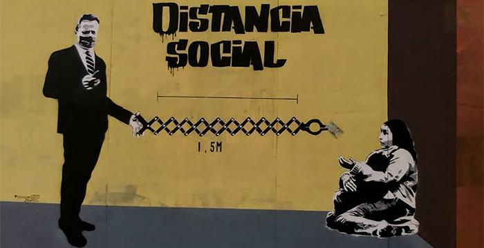 Distancia social / Pikoenelojo Stencil