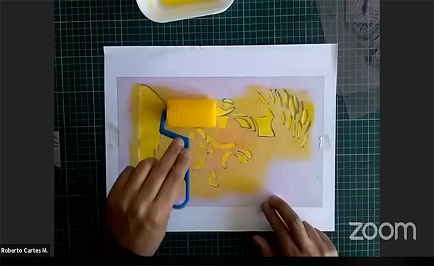Roberto Cartes muestra su técnica vía streaming